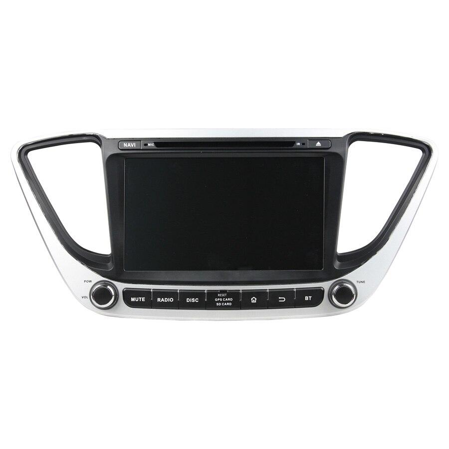 Lecteur DVD de voiture ELANMEY premium navigation gps pour hyundai accent verna 2017 solaris android 8.0 lecteur DVD de voiture multimédia radio stéréo