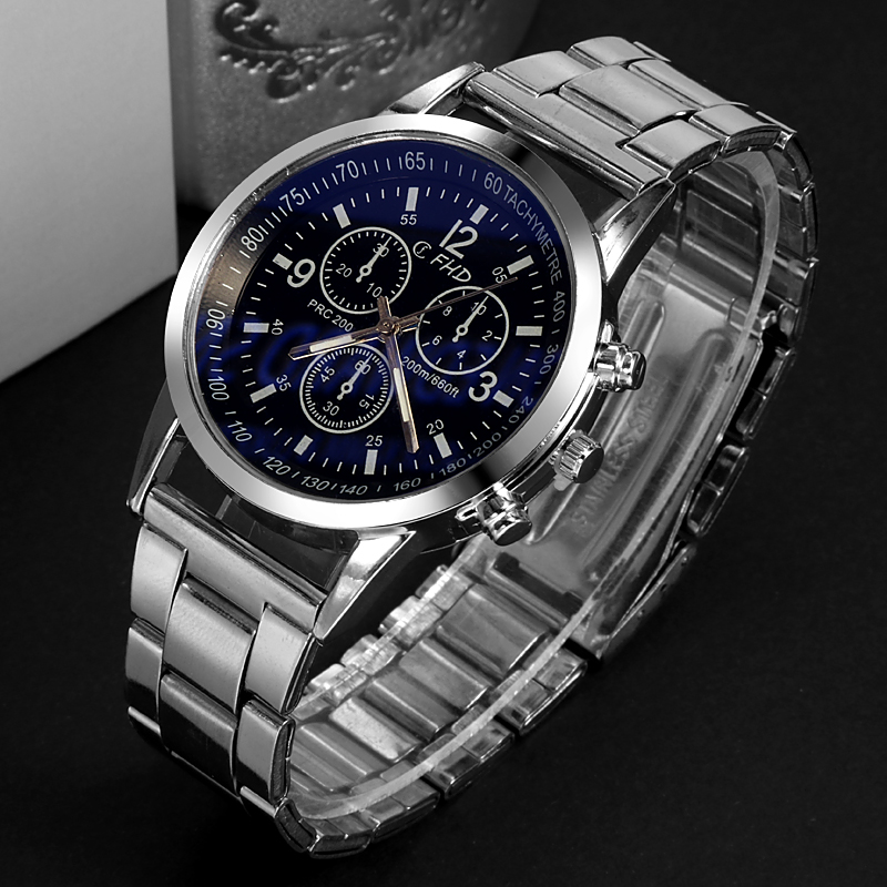 Fashion New Watch Men Casual Luxury Full Stainless Steel Quartz WristWatch Relogio Masculino Erkek Kol Saati Watches Drop Ship