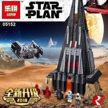 05152 Лепин 2018 Звездные войны Совместимость Legoing 75251 Дарт Вейдер замок набор строительных Конструкторы кирпичи собраны рождественские подарки