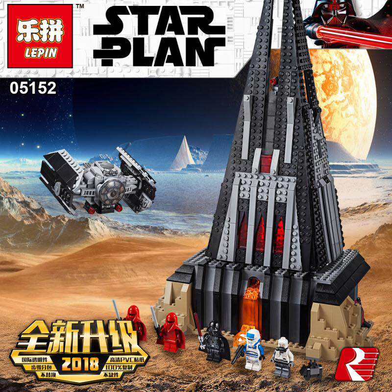 2018 Lepin 05152 Star War Compatible Legoing 75251 Darth Vader`s Castle Set Building Blocks Bricks Assembled Christmas gifts
