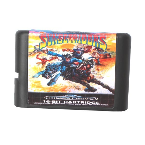 Sunset Riders (Sunsetriders) 16 bit MD Game Card For Sega Mega Drive For Genesis