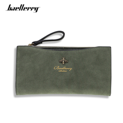 Baellerry Wallet Women Vintage Fashion Top Quality Long Wallet Leather Classic Green Purse Female Money Bag Zipper Coin Pocket