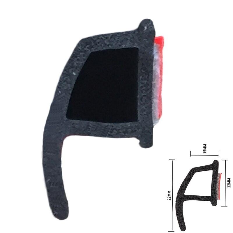 HAWDA 4Meter P type 3M car door rubber seal Sound Insulation car door sealing strip weatherstrip