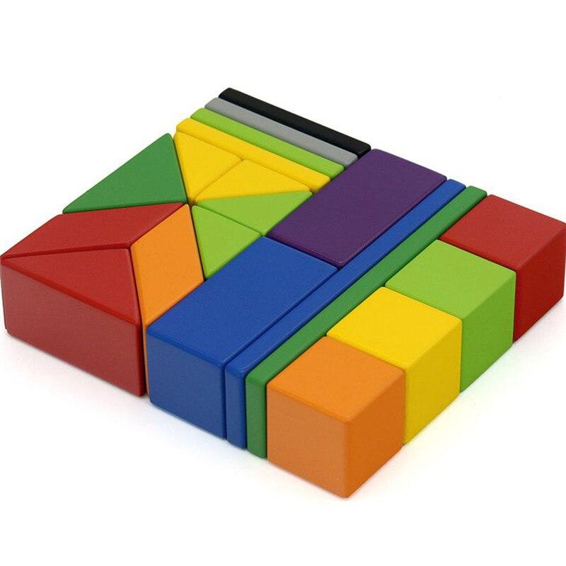 XIAOMI MITU 20 pièces Blocs de Construction Magnétiques Jouets Puzzle Multifonctionnel Enfants Cadeau Éducatif Jouets De Construction Blocs Tangram