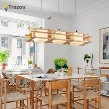 Modern Wood dinning room living pendant lights luminaire lustres de sala led fixture lamparas techo colgante