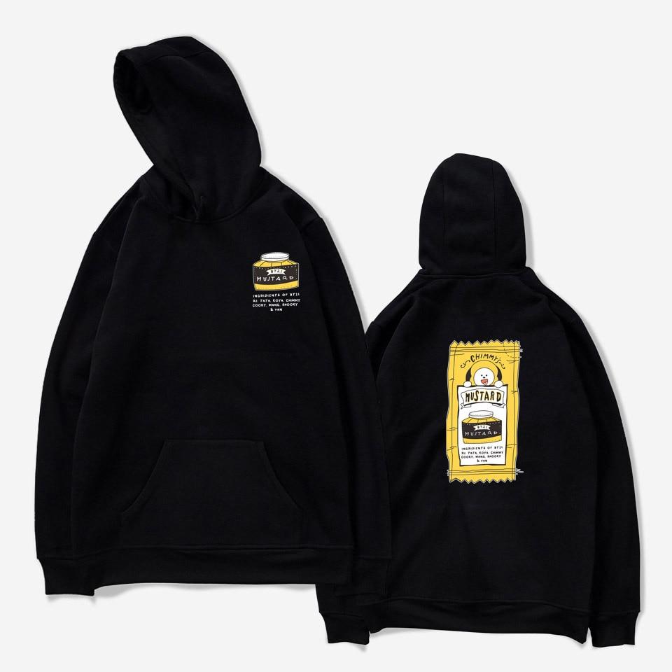 Kpop BTS Love Yourself Hoodie outwear Harajuku tops Cap Sweatshirt Bangtan boys plus size pullover men women Hoodies Sweatshirts