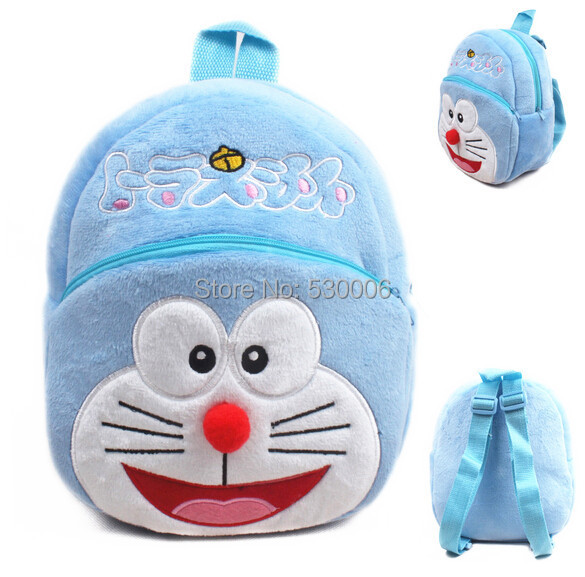 e814668ffd9c 2015 Kawaii Cartoon Doraemon Baby Boys Girl Mini Soft Plush Backpack Kid  Bag Children School Bags Birthday Gift mochila infantil