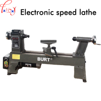Electronic no pole speed regulating lathe small cast iron woodworking lathe digital display woodworking lathe 220V 550W