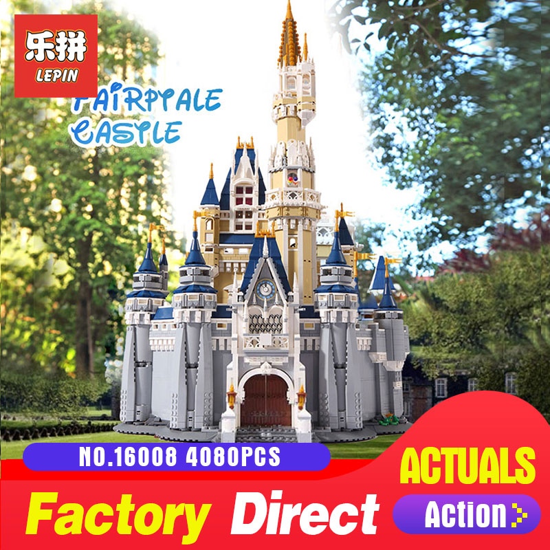 LEPIN 16008 4080Pcs The movies series Creator Cinderella Princess Castle City Model Building Block Toy Model Gift 71040