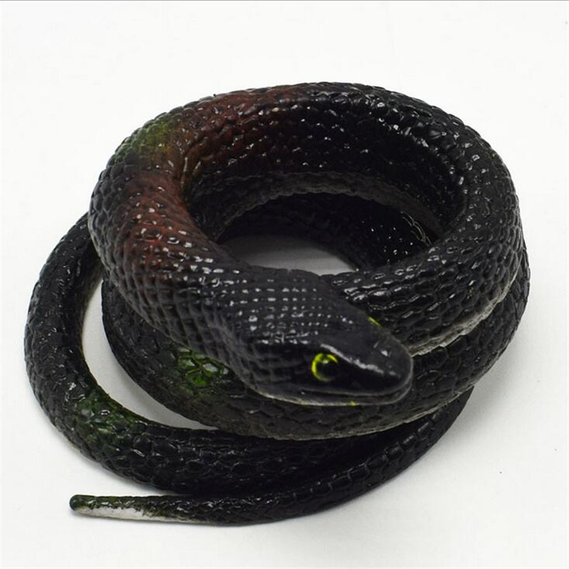 reative gift Realistic Soft Rubber Toy Snake Safari Garden Props Joke Prank Gift About 75cm Novelty and Gag Playing Jokes Toy