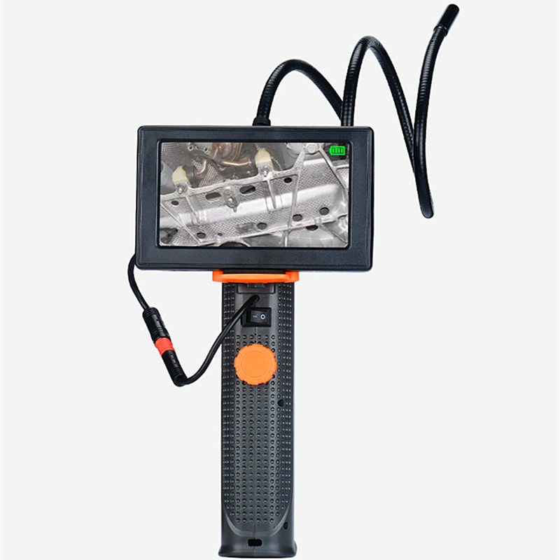 AIBOULLY H68 Maintenance Endoscope Pipe 8mm Diameter 4.3 Inch Screen With LED Light Repair Tool Snake Tube 4X Zoom