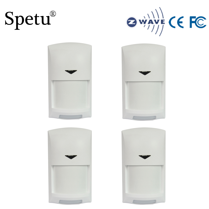 Spetu 4PCS/lot Z-wave Wireless Infrared Detector Smart Home EU Version 868.42mhz Z Wave Infrared Detector Power Battery Operated