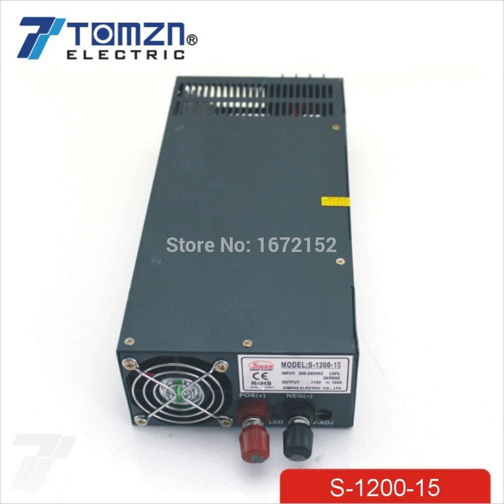 1200W 15V adjustable 220v input Single Output Switching power supply for LED Strip light AC to DC single output uninterruptible adjustable 24v 150w switching power supply unit 110v 240vac to dc smps for led strip light cnc
