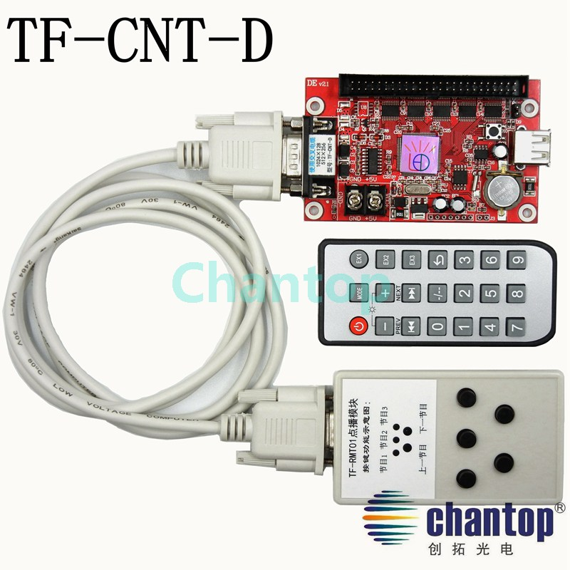 TF-CNT-D led controller select program play from the TF-RMT01 module remote control led screen display control card an incremental graft parsing based program development environment