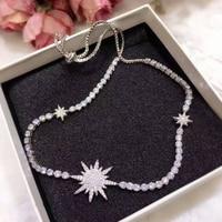 GODKI Fashion AAA Cubic Zircon Simulated Diamond Trendy Geometric Adjust Length Wedding Necklace