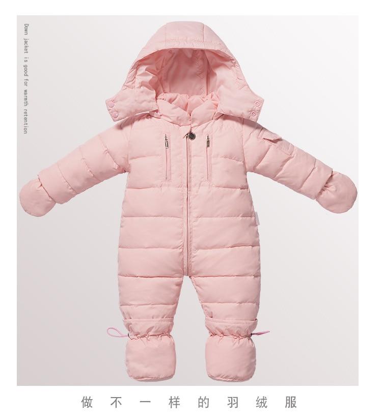 Baby Snowsuit Jacket Duck Down Coat Large Fur Collar Baby Accessories Infant White Duck Down Kids Clothes Jumpsuit Romper Set 2014 children s clothing baby down coat set large fur collar red male