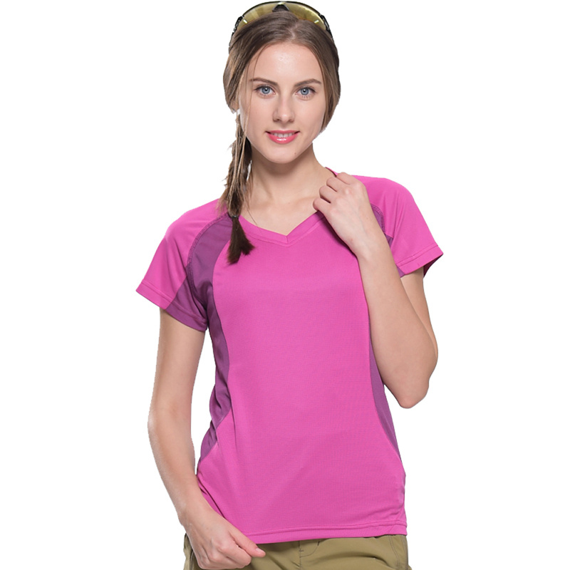 Womens Summer Thin Section 6 Min Quick Drying Super Stretch Good Breathable T Shirts Outdoor Sportswear