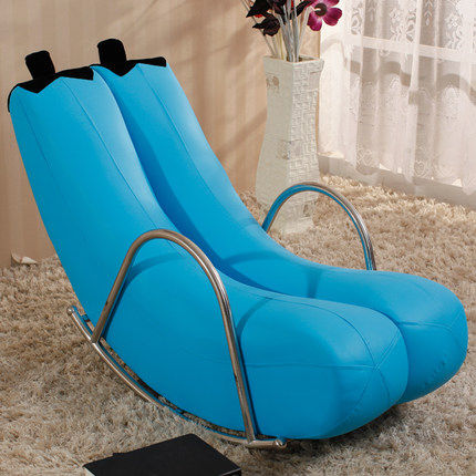 Louis Fashion Creative Single Lazy Sofa Banana Chair Rocking Chair  Personality Lovely European Modern Small Sofa