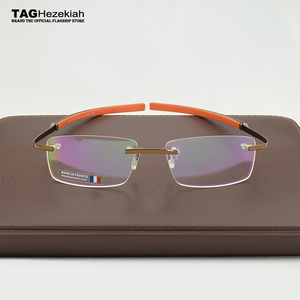Image 4 - 2019 ללא מסגרת משקפיים מותג תג חזקיהו קוצר ראייה משקפיים מסגרת לגבר ואישה TH0341 עין משקפיים oculos דה גראו משקפי