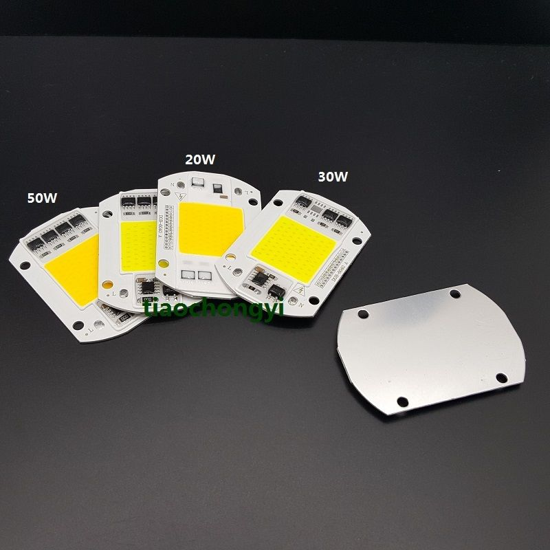 5pcs 20W 30W 50W white wram white LED Floodlight COB Chip 220V Input Integrated Smart IC Driver NEW