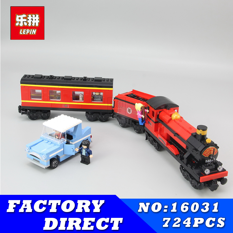 Lepin 16031 724Pcs Movie Series Funny The Hogwarts Express Set 4841 Building Blocks Bricks Educational Children Toys Model Gift lepin 16030 1340pcs movie series hogwarts city model building blocks bricks toys for children pirate caribbean gift