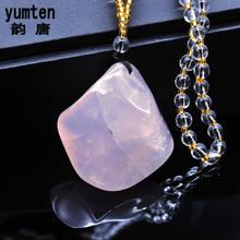 8362b0586b1f Yumten natural Polvos de maquillaje cristal COLLAR COLGANTE cristal blanco  Cuentas irregular piedra hombres mujeres kolye amatis.