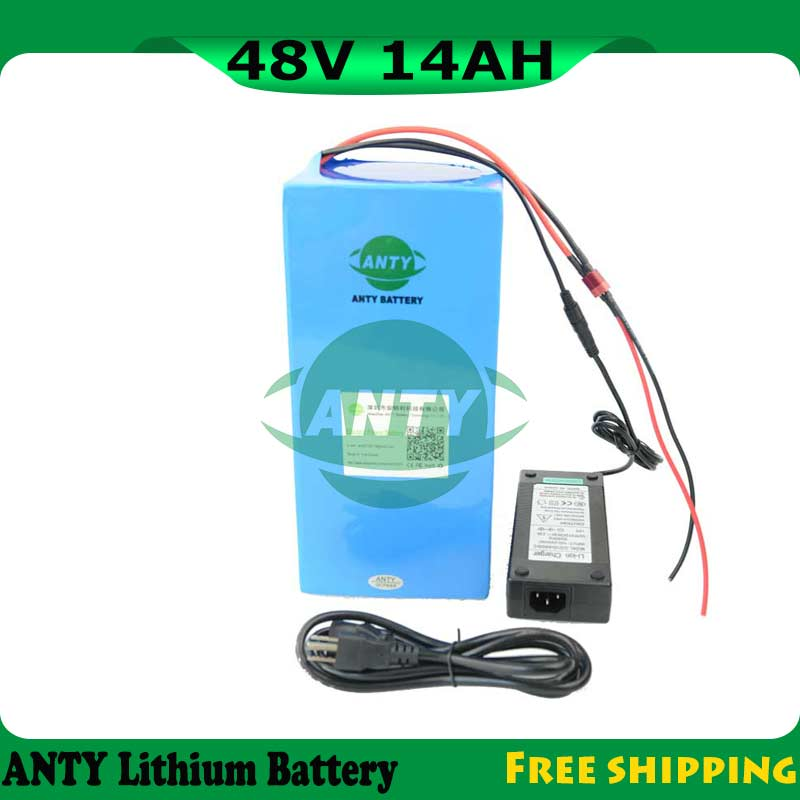 650W 48V Electric Bike Battery 14Ah Bicycle Lithium Battery 48V With 54.6V 2A Charger 15A BMS 48V Battery Pack Free Shipping eu us free customs duty 48v 550w e bike battery 48v 15ah lithium ion battery pack with 2a charger electric bicycle battery 48v