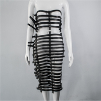Leather Harness Dress For Women Multi layer Adjustable Belts BDSM Bondage Cage Punk Rave Festival Outfit Erotic Clothing