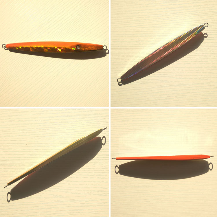 New design 5pcs 300g lead fish lead jig knife jig Mixed 5 colors with seperate package free shipping