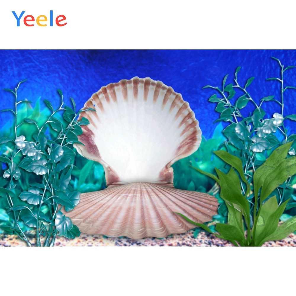 Yeele 水中世界海藻シェルイガイ夏の写真撮影背景カスタマイズされた写真の背景の写真