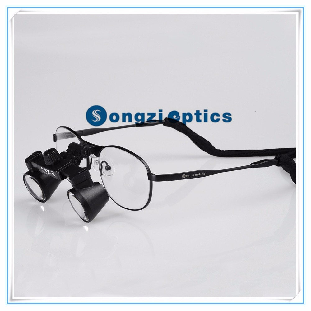 Small Size Lens Titanium frame 2 5X Field Of View 150mm Depth of field 200mm Binocular