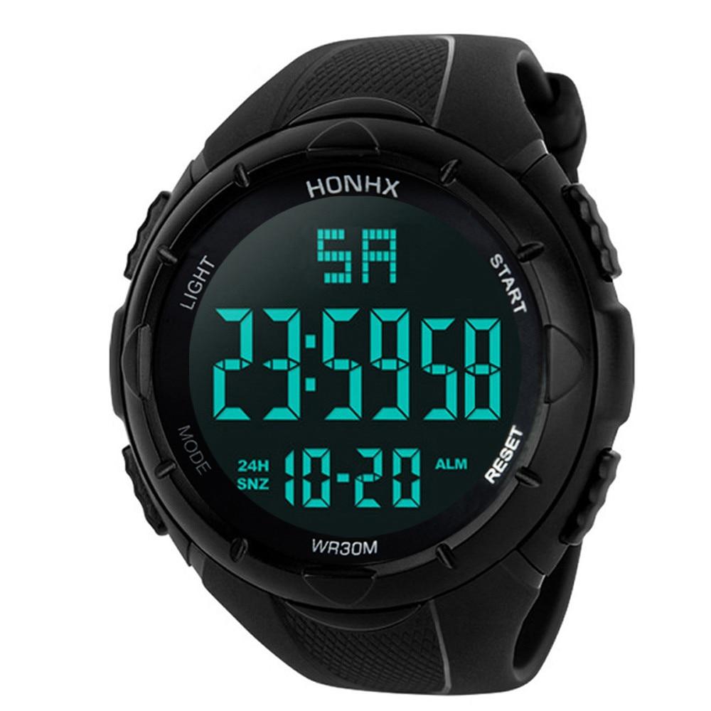 OTOKY 2018 Sport watch Waterproof Men's Boy LCD Digital Stopwatch Date silicone Sport Watch Luminous wrist watch Luxury brand