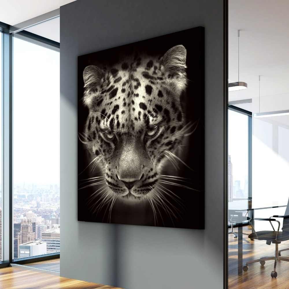 Nordic Canvas Art Leopard Stare Poster Animal Cuadros Decoracion Paintings on Canvas Wall Art for Home Decorations Wall Decor