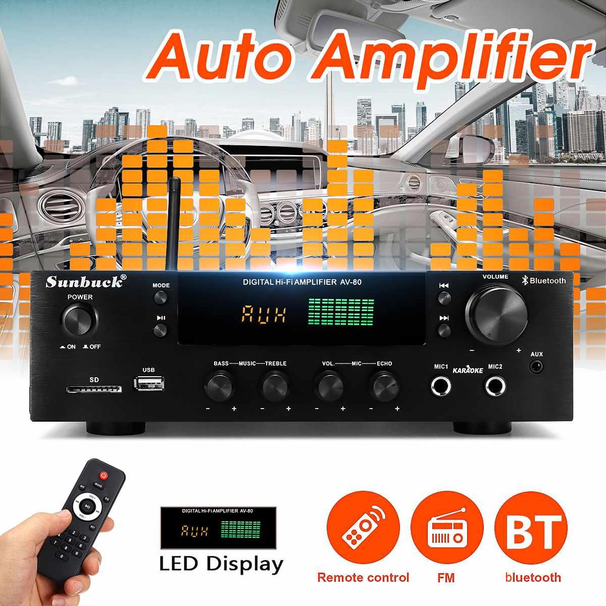 Amplificador de Potência Teli Alta Fidelidade Tecnologia Automática Bluetooth Estéreo Áudio Karaoke fm Receptor Usb sd Placa Amplifer Bt-1388