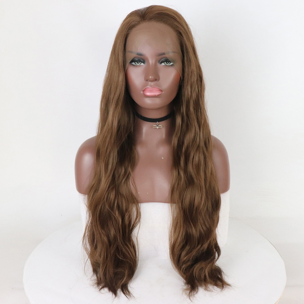Fantasy Beauty Light Brown Lace Front Wigs Natural Wave