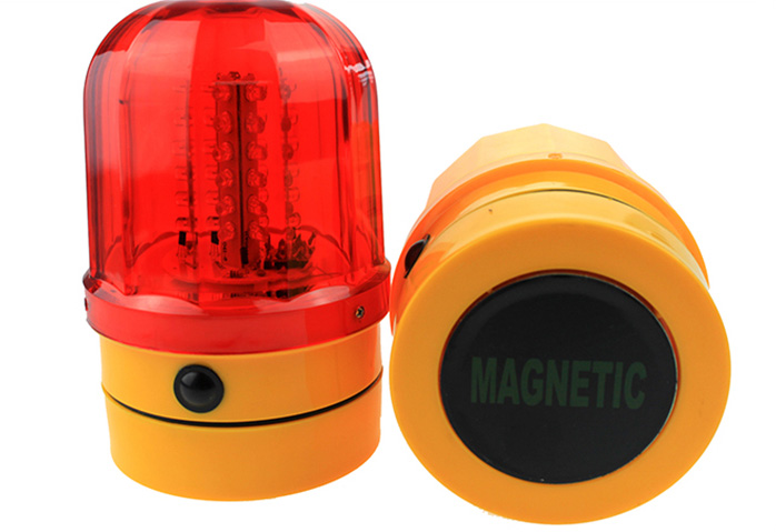 LED traffic barricade warning light, revolving light car suction ceiling light with magnet at the bottom