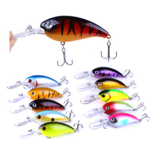 Купить с кэшбэком Brand fishing lures sea trolling minnow artificial Hard bait 10cm/14g Big Wobblers Quick dive bait carp crankbait pesca jerkbait