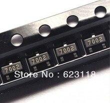 Бесплатная Доставка 100 шт. 2N7002 МАРК: 702 МОП-ТРАНЗИСТОР N-CH 60 В 300MA SOT-23