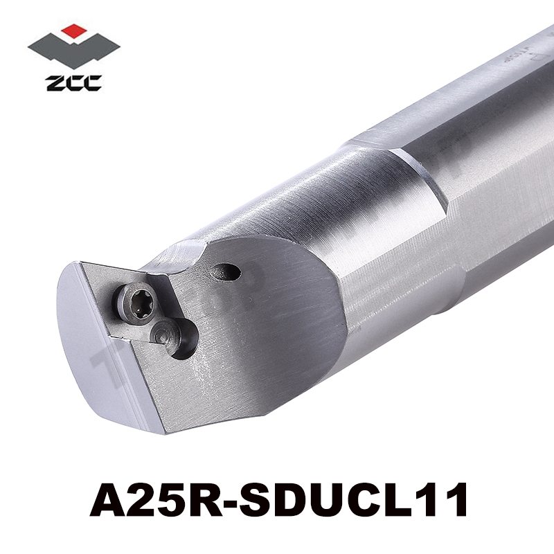 ZCC.CT CNC lathe Tool A25R-SDUCL11 A25R-SDUCR11  CNC Internal Turning Tool holders with oil hole zcc ct cutter bar pdnnr l2020k15 p hole clamping tool holders external turning tools cnc lathe tool holder for dn series