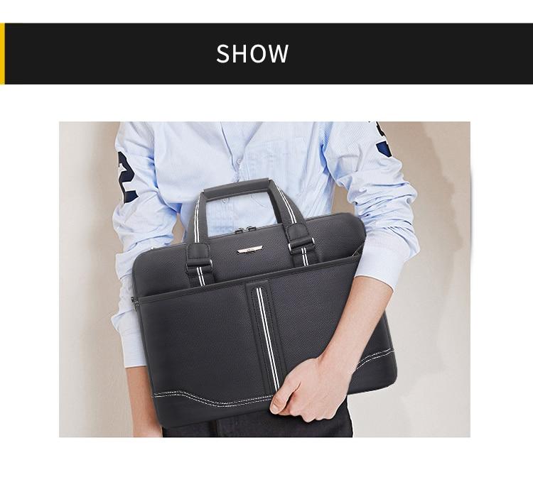HTB1m3cCaROD3KVjSZFFq6An9pXaf Business Oxford Men Briefcase 15.6 inch Laptop Handbags Men's Office Bags Multifunction Messenger BagComputer Work Bag