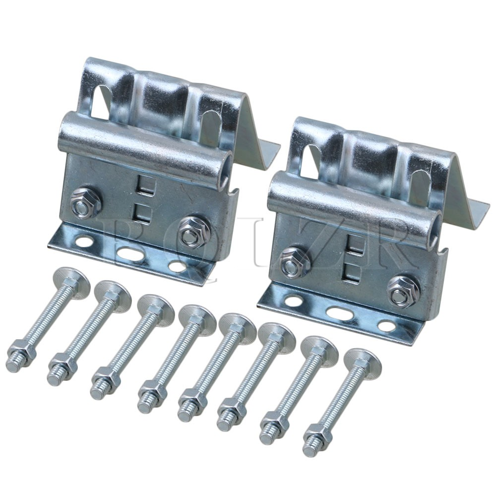 2PCS Plating Heavy Duty Garage Door Adjustable Top Bracket with Screw BQLZR