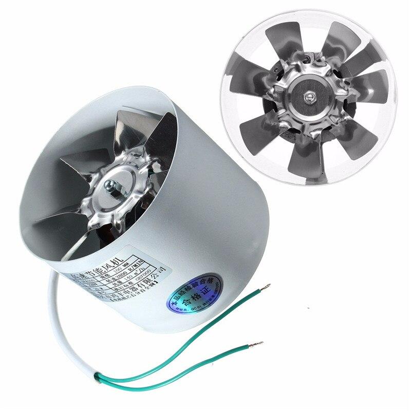 2800R/Min Kanal Booster Vent Fan Metall 220 v 20 watt 4 zoll Inline Führung Fan Auspuff Belüftung Kanal fan Zubehör 10x7,5 cm