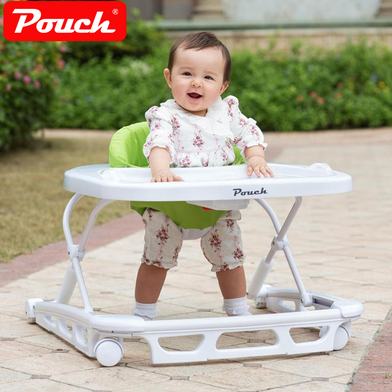 Pouch Fashion Foldable Baby Walker, U-shaped Rollover Baby Car, Multifunctional Walker for 6-18 Months Baby baby car rollover multifunctional music 6 7 18 months baby children learn driving