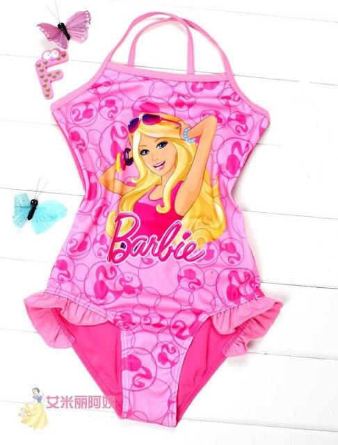 3be4e00d5147c Kids Baby cartoon barbie Swimsuit Swimwear Bathers monokine Children  bathing Original barbie Tankini beach Swim free shiping