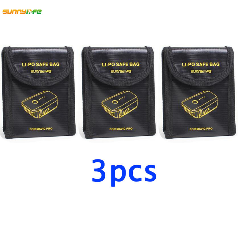 US $7 8 18% OFF|3pcs Lipo Battery Pouch Explosion proof Protector Case  Fireproof blast proof Safe Bag Fiber Storage Box for DJI Mavic PRO Drone-in