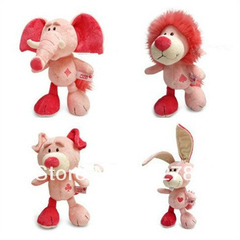 4 Pieces NICI 30cm NICI Pink Concept Lion for Cute Baby/ Kids Gift, Plush Doll Free Shipping цена