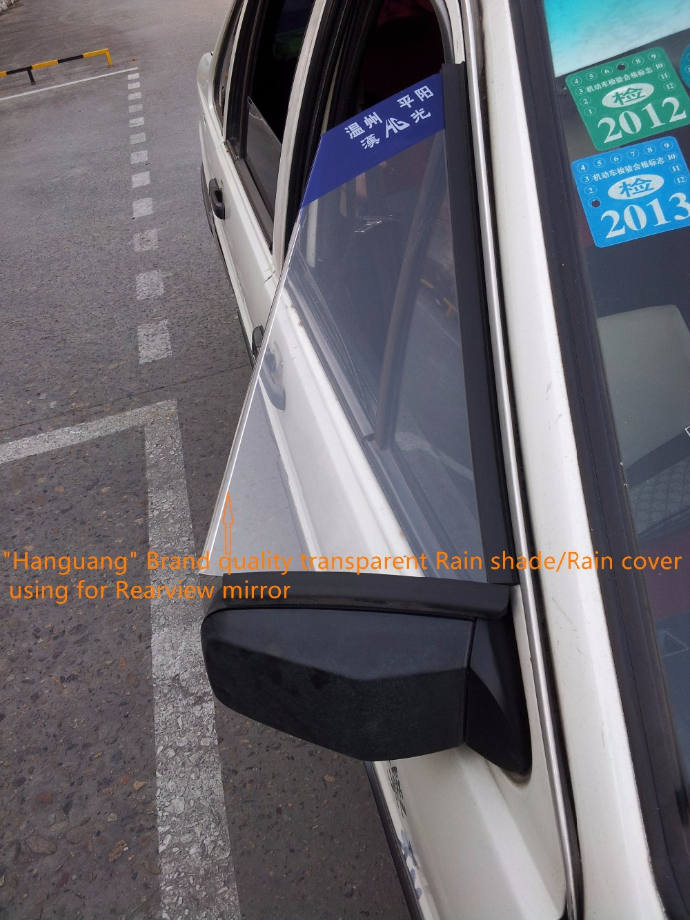 Free shipping transparent Coach Car Special-using Rearview Mirror protect Rain shade/Rain Cover use for Santana Volkswagen type