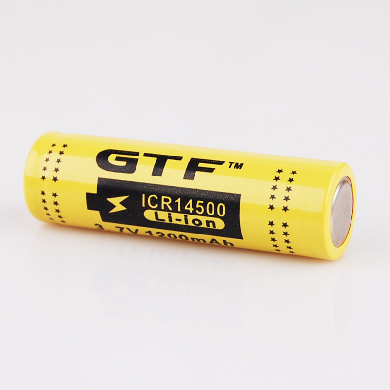 GTF 3.7V 1200mah 14500 Li-ion Battery Rechargeable Battery 14500 Battery For RC Toy Shaver LED Light Powerbank Remote Control