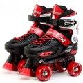 Japy Skate  Child Adjustable Roller Skates Double Skates Two Line Roller Skate Patins Kits Patins Skating Shoes Free shipping