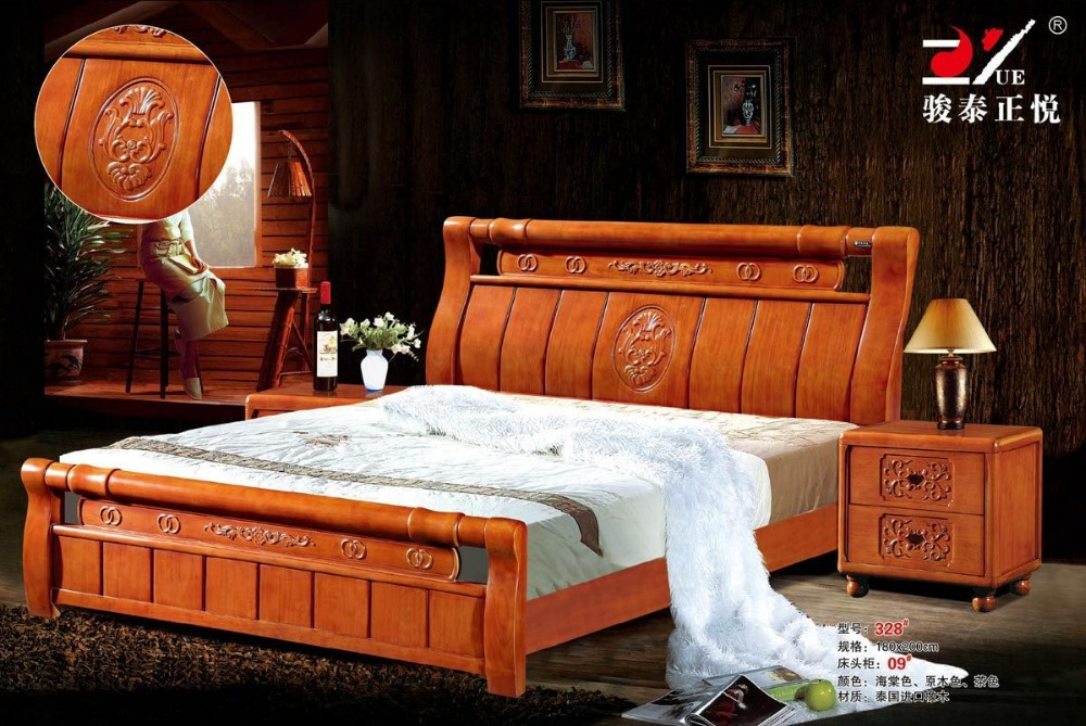 US $450.0 |high quality bed Oak Bedroom furniture bed factory price Oak bed  4-in Beds from Furniture on Aliexpress.com | Alibaba Group